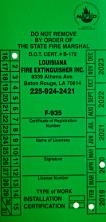 Fire Extinguisher Hydro Testing in Louisiana